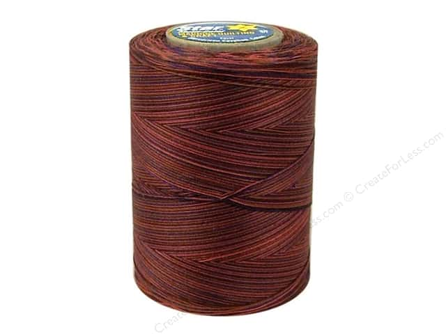Coats & Clark Star Variegated Mercerized Cotton Quilting Thread 1200 yd. #847 Potters Clay