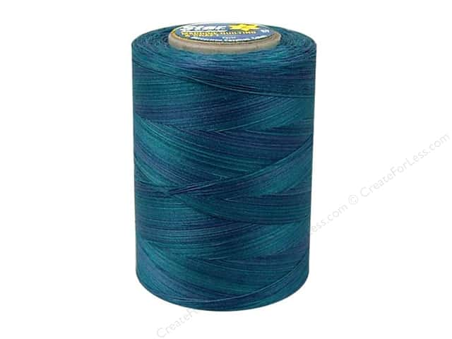 Coats & Clark Star Variegated Mercerized Cotton Quilting Thread 1200 yd. #848 Blue Pacific