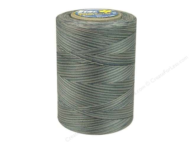 Coats & Clark Star Variegated Mercerized Cotton Quilting Thread 1200 yd. #854 Graystones