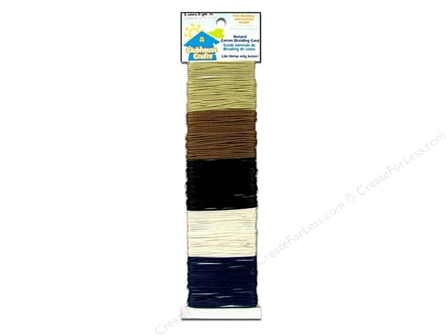 Sulyn Clubhouse Crafts Cotton Braiding Cord Natural