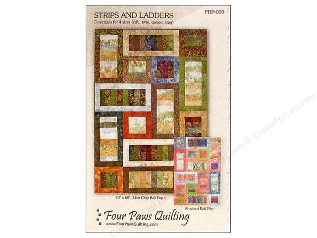 Four Paws Quilting Strips and Ladders Pattern