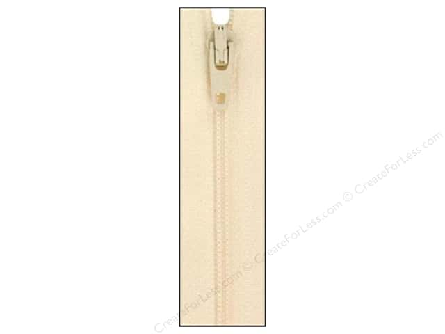 Atkinson Designs Zipper by YKK 14 in. Creamy