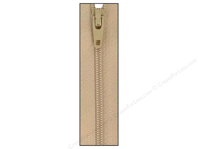 Atkinson Designs Zipper by YKK 14 in. Mushroom