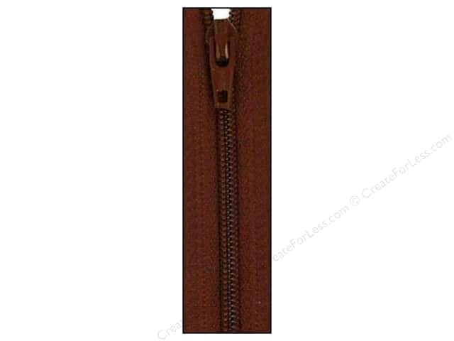 Atkinson Designs Zipper 14 in. by YKK Chocolate Syrup