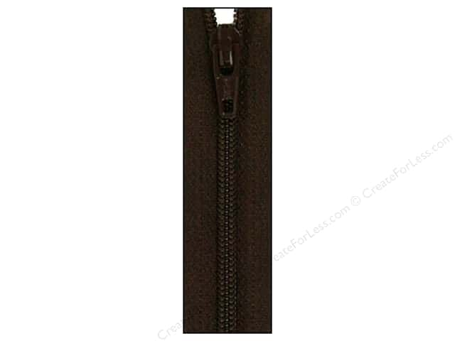 Atkinson Designs Zipper by YKK 14 in. Black Walnut