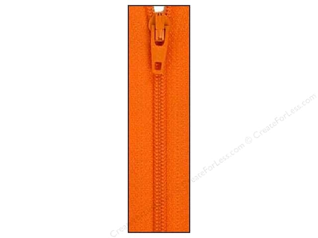 Atkinson Designs Zipper by YKK 14 in. Orange Peel