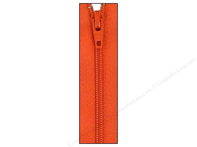 Atkinson Designs Zipper by YKK 14 in. Pumpkin
