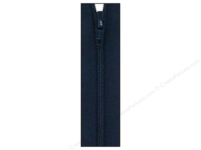 Atkinson Designs Zipper by YKK 14 in. Navy Blue