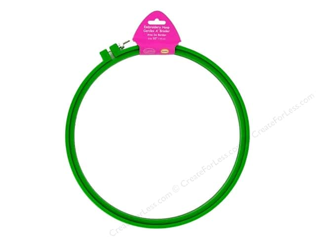 F.A. Edmunds Plastic Embroidery Hoop 10 in. Green