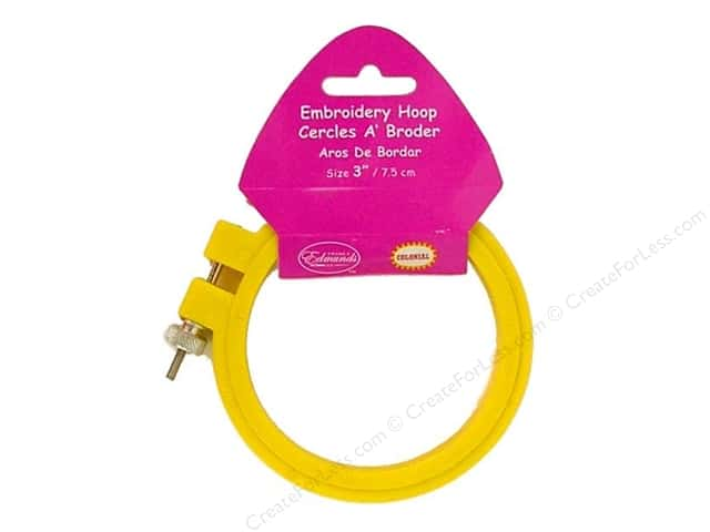 F.A. Edmunds Plastic Embroidery Hoop 3 in. Yellow