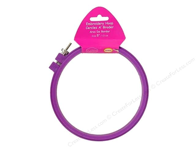 F.A. Edmunds Plastic Embroidery Hoop 5 in. Orchid