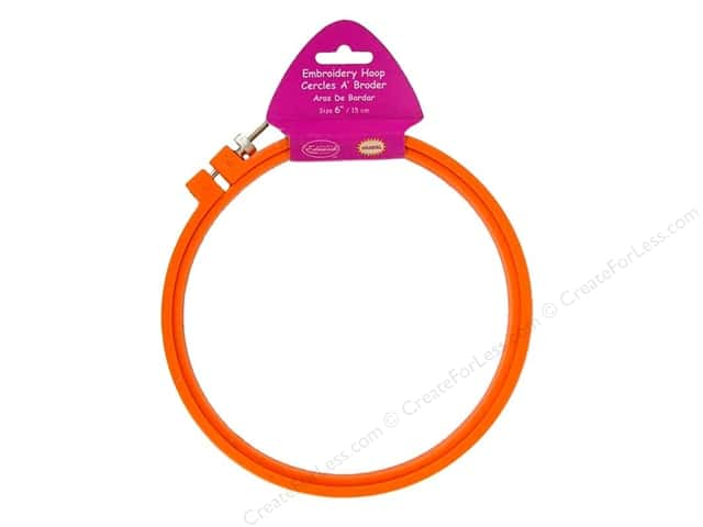 F.A. Edmunds Plastic Embroidery Hoop 6 in. Orange