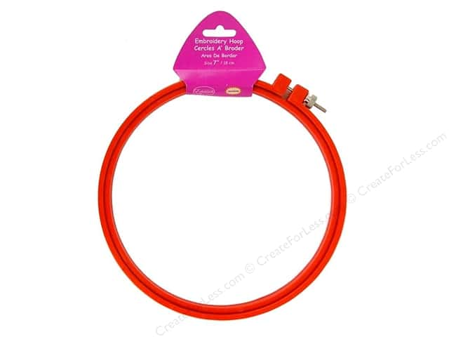 F.A. Edmunds Plastic Embroidery Hoop 7 in. Red