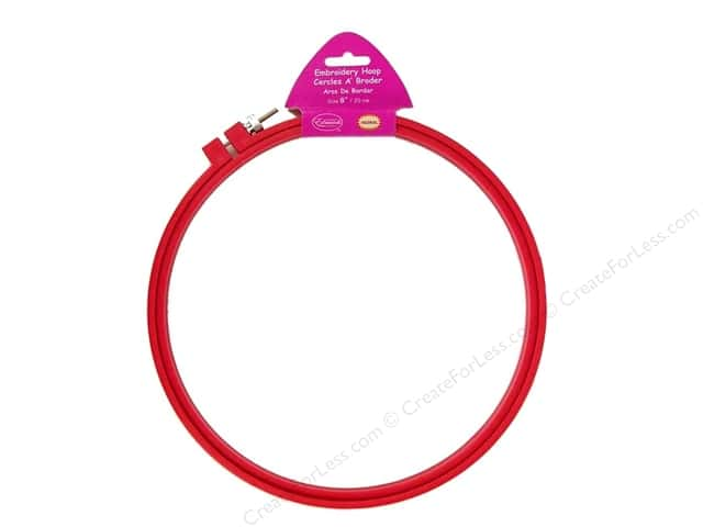 F.A. Edmunds Plastic Embroidery Hoop 8 in. Dark Pink