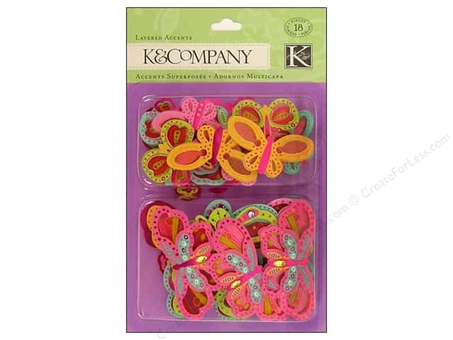 K&Company Layered Accents Butterfly