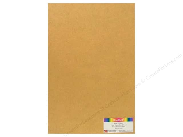 National Nonwovens 35% Wool Felt 12 x 18 in. Beach Sand (10 sheets)