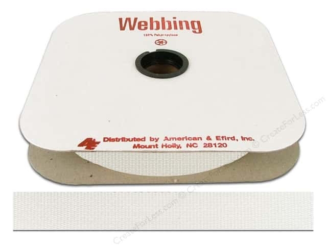 Polypropylene Webbing by A&E 1 in. White (25 yards)
