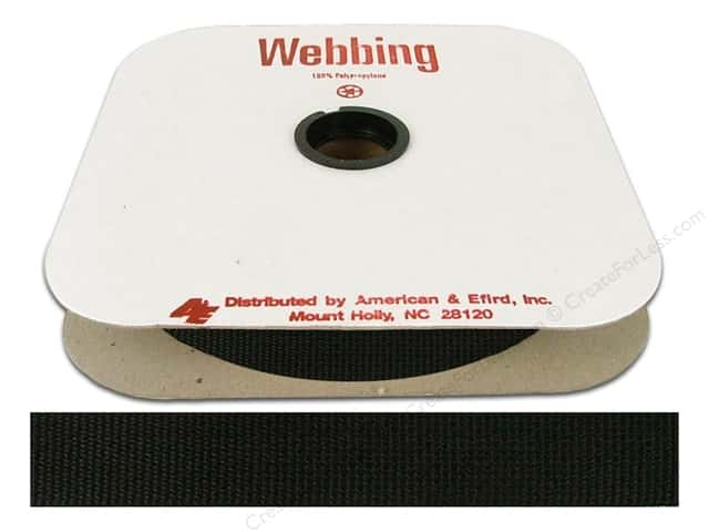 Polypropylene Webbing by A&E 1 in. Black (25 yards)