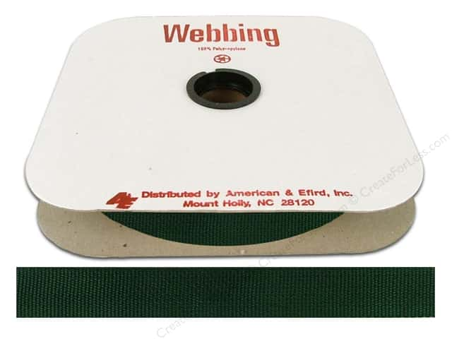 Polypropylene Webbing by A&E 1 in. Forest Green (25 yards)