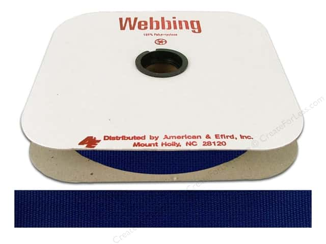 Polypropylene Webbing by A&E 1 in. Victoria Blue (25 yards)