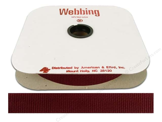 Polypropylene Webbing by A&E 1 in. American Beauty (25 yards)