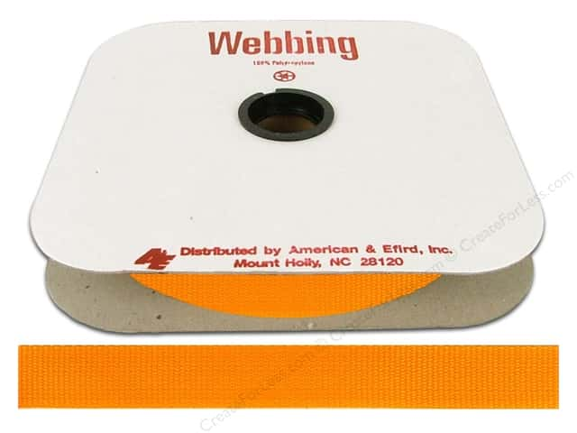Polypropylene Webbing by A&E 1 in. Papaya (25 yards)