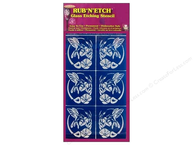 Armour Rub 'n' Etch Stencil Hummingbird Oval