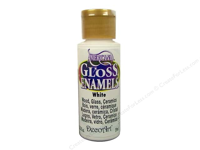DecoArt Americana Gloss Enamel Paint 2 oz. #01 White