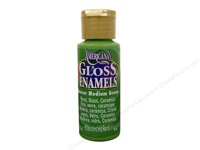 DecoArt Americana Gloss Enamel Paint 2 oz. #132 Hauser Med Green