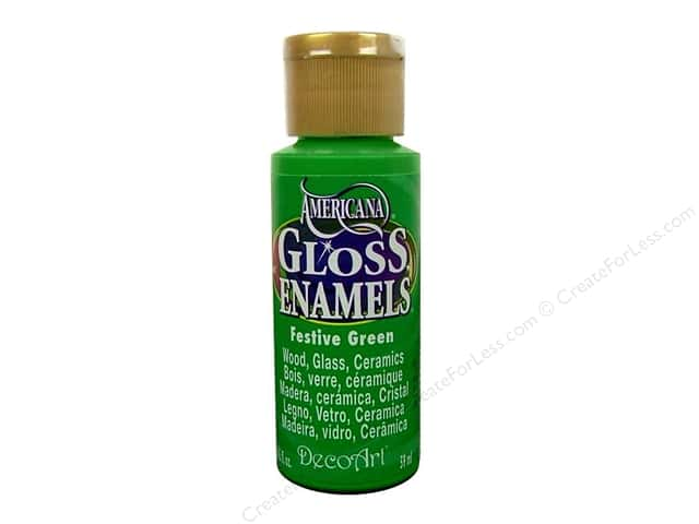 DecoArt Americana Gloss Enamel Paint 2 oz. #230 Festive Green