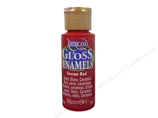 DecoArt Americana Gloss Enamel Paint 2 oz. #265 Tuscan Red