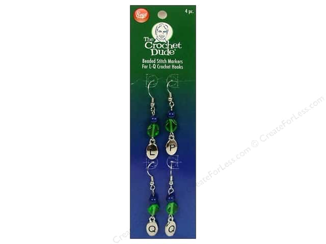 The Crochet Dude Stitch Markers Beaded  L,P,Q