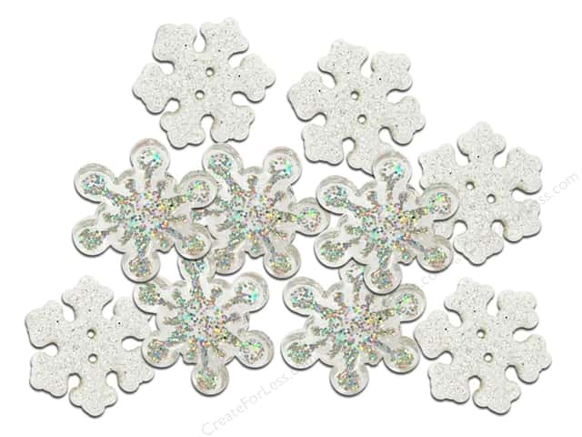 Jesse James Embellishments Christmas Bling Sparkle Flakes