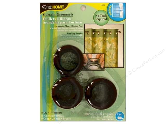 Dritz Home Curtain Grommets 1 in. Round Bronze 8pc