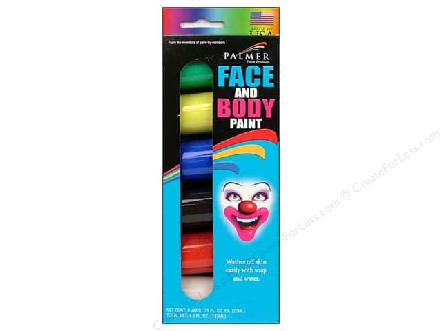 Palmer Face Paint Set 3/4oz Jar 6pc