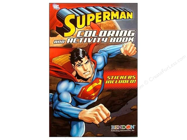 Bendon Coloring & Activity Book with Stickers Superman (3 pieces)