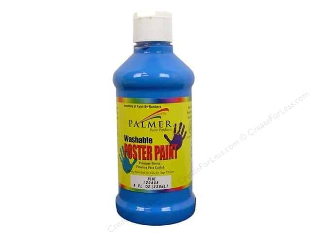 Palmer Washable Poster Paint 8oz Blue