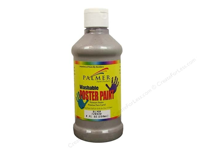 Palmer Washable Poster Paint 8oz Silver