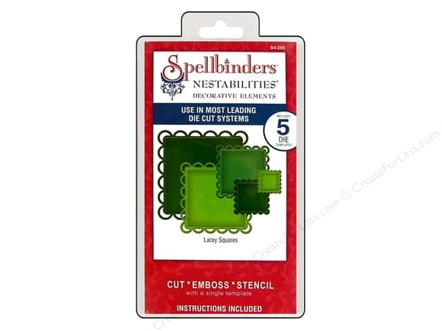 Spellbinders Nestabilities Decorative Elements Die Lacey Squares
