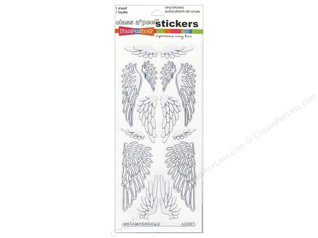 Stampendous Stickers Class A'Peel Jumbo Wings Pearl White