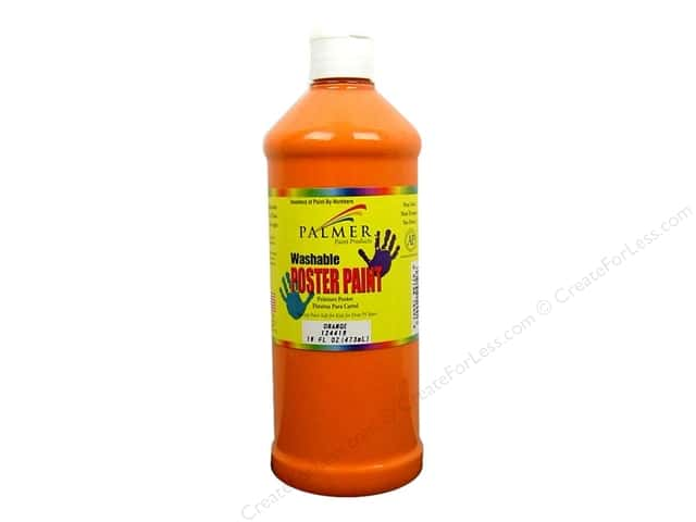 Palmer Washable Poster Paint 16oz Orange
