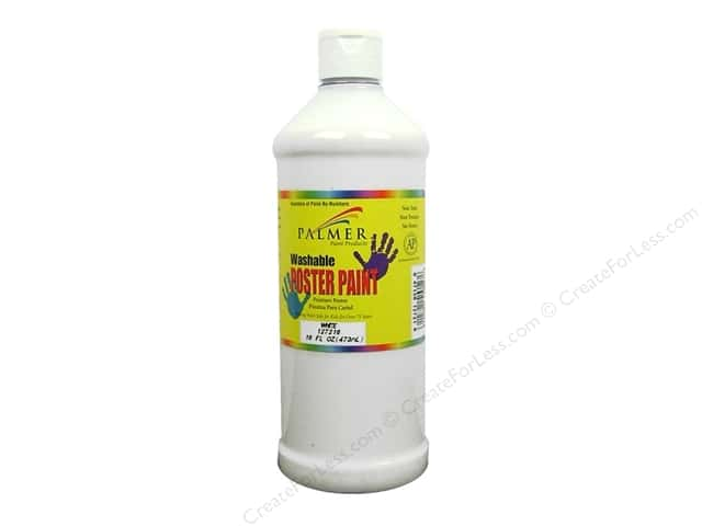 Palmer Washable Poster Paint 16oz White