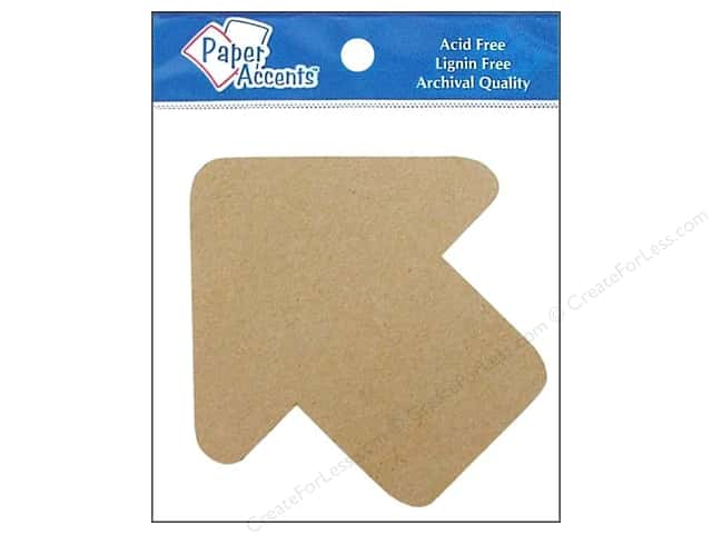 Paper Accents Chipboard Shape Arrow 8 pc. Natural