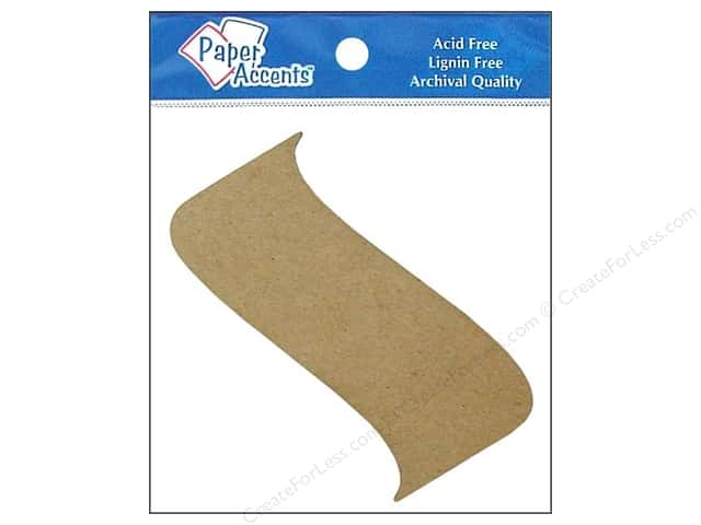 Paper Accents Chipboard Shape Banner 8 pc. Kraft