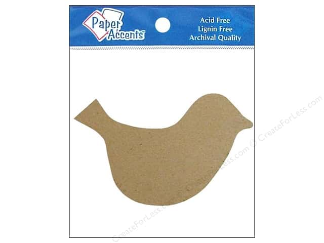 Paper Accents Chipboard Shape Bird 8 pc. Kraft