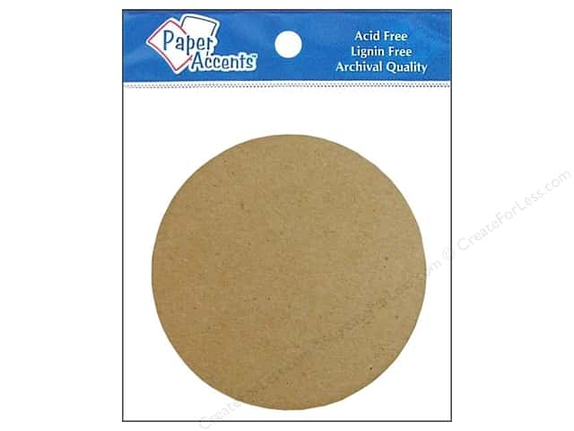 Paper Accents Chipboard Shape Circle 8 pc. Natural