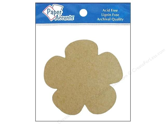 Paper Accents Chipboard Shape Flower 8 pc. Kraft