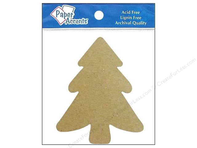 Paper Accents Chipboard Shape Tree 8 pc. Kraft