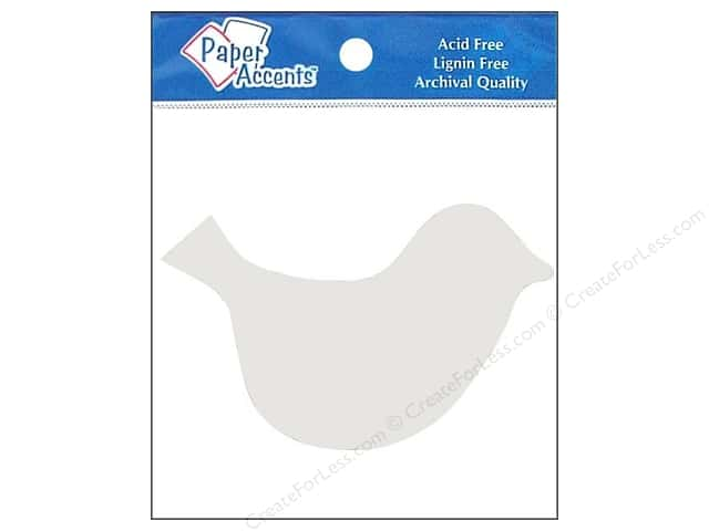 Paper Accents Chipboard Shape Bird 8 pc. White