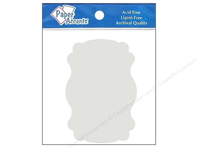 Paper Accents Chipboard Shape Marquee #1 8 pc. White